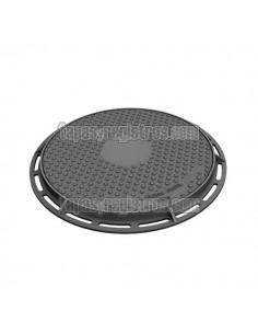 Tapa y marco diámetro 600 mm en fundición dúctil y resistencia 250Kn