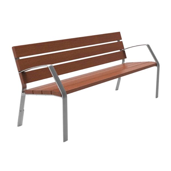 Banco de aluminio modo10 con listones de madera tropical - Listones de aluminio ...