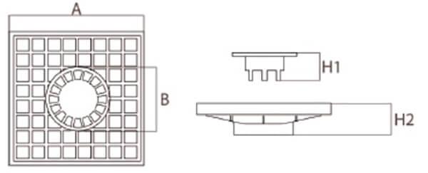 Tapas y marco de polipropileno con sumidero para arquetas de aguas pluviales Catálogo Productos
