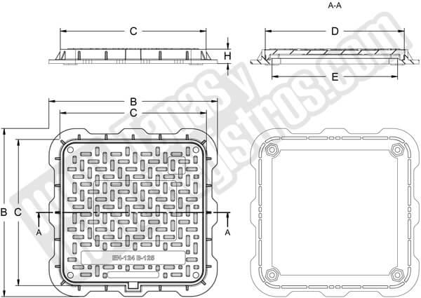 Tapas para arquetas en composite - Clase B-125