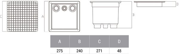 Caja de registro estanca de polipropileno