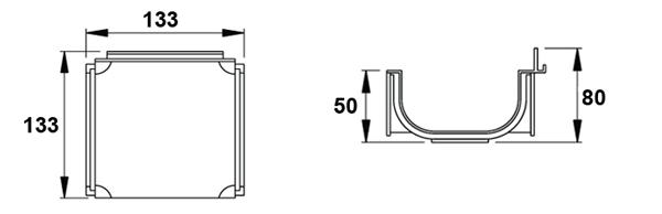 Esquinero de 90º para canaleta de polipropileno normal