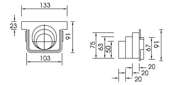 Tapa latereal para canaleta de polipropileno reforzada