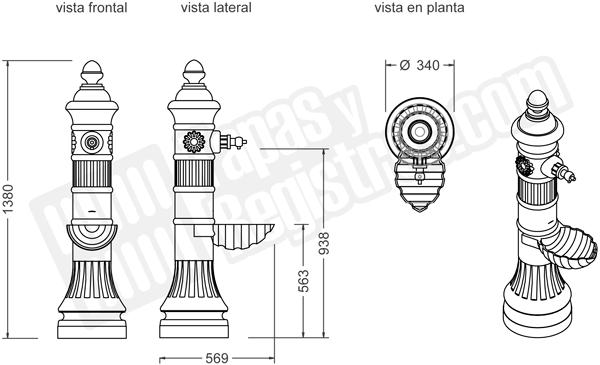 Fuente de fundición dúctil modelo CASTELLANA