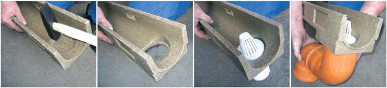 Instalación y montaje de canal de drenaje de hormigón polímero