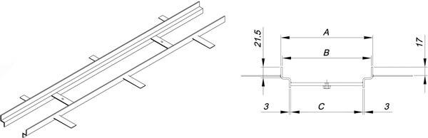 Marco para canal de hormigón polímero y rejilla de empotrar
