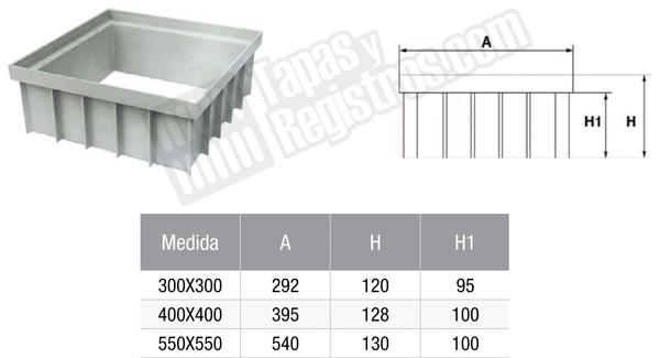 Prolongador de arquetas prefabricadas de polipropileno