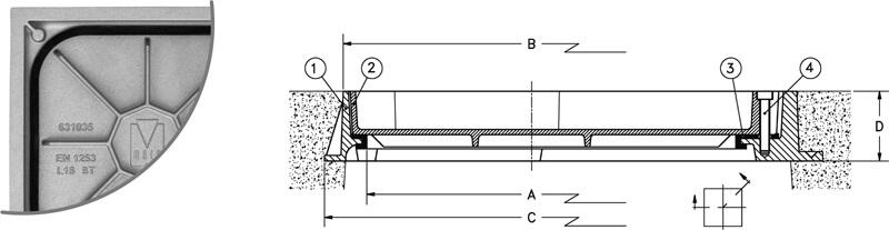 Tapas para arquetas estancas en fundición de aluminio rellenable - Normal