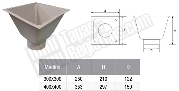 Sifón campana para arquetas prefabricadas de polipropileno