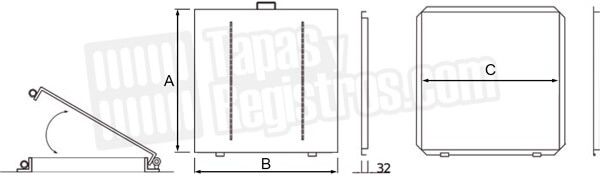 Tapas para registro de cisterna o aljibe en acero galvanizado