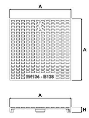 Tapa en fundición dúctil B-125 para arqueta de polipropileno