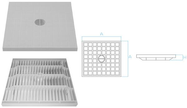 Tapas para arquetas de polipropileno para aguas pluviales