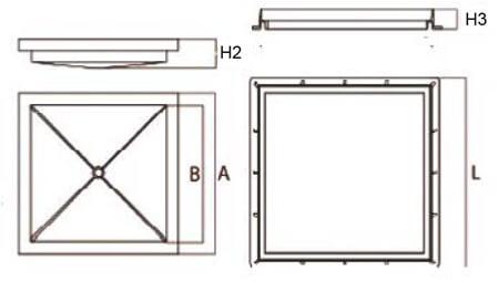 Tapa rellenable y marco en polipropileno para aguas pluviales