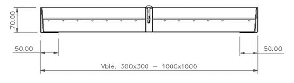 Tapas para arquetas en acero inoxidable rellenable - Normal