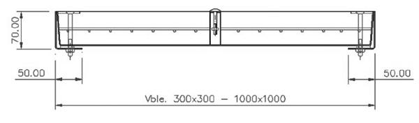 Tapas para arquetas estancas en acero inoxidable rellenable - Reforzada