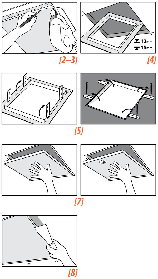 Trampilla de registro metálica lacada en blanco
